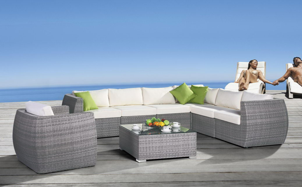Mueble exterior mueble de jardin conjunto sofa de for Sofa exterior plegable