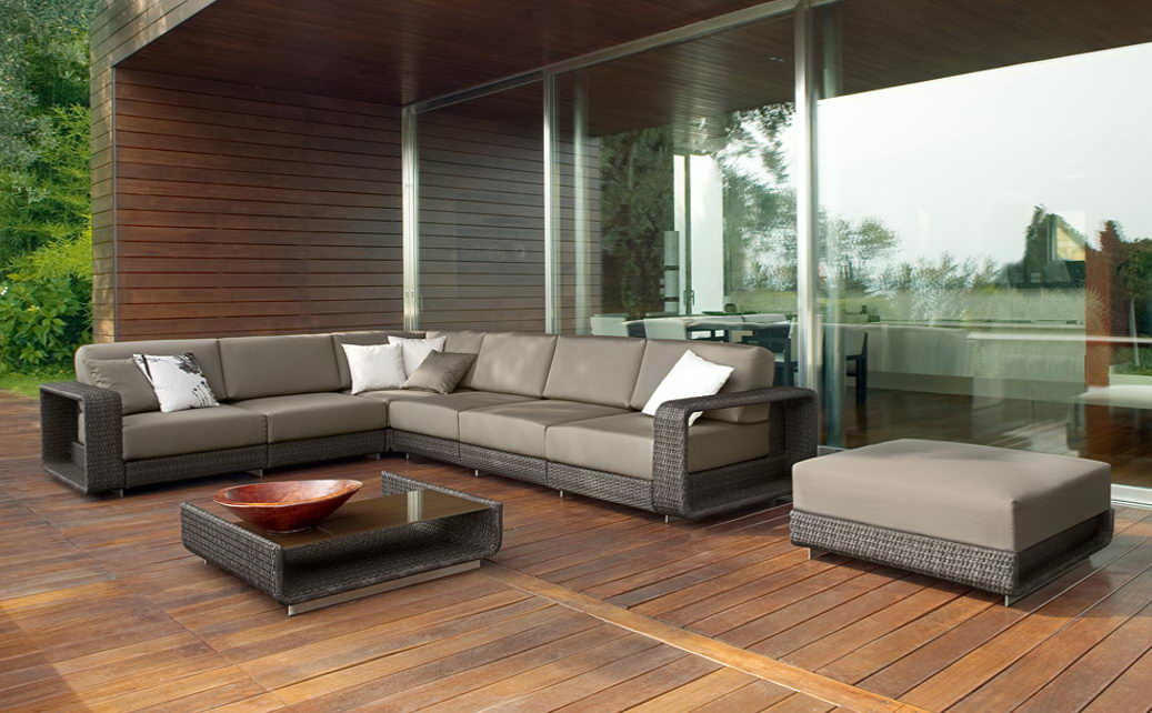 Muebles rattan exterior interesting broyerk bluegrey for Muebles jardin rattan